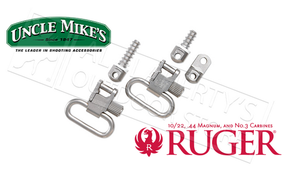 Uncle Mike's Auto and Single Shot Ruger Carbine and 10/22 Swivels in Nickel #14622