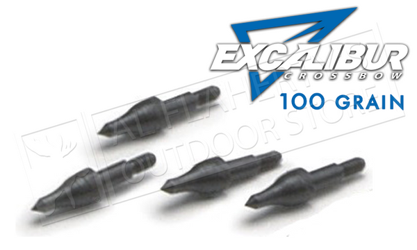Excalibur Crossbow Field Points, 100 Grain Pack of 12 #TP100-12