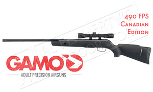 Gamo Varmint Air Rifle with 4x32mm Scope, .177 Caliber Pellet 490fps #6110017154