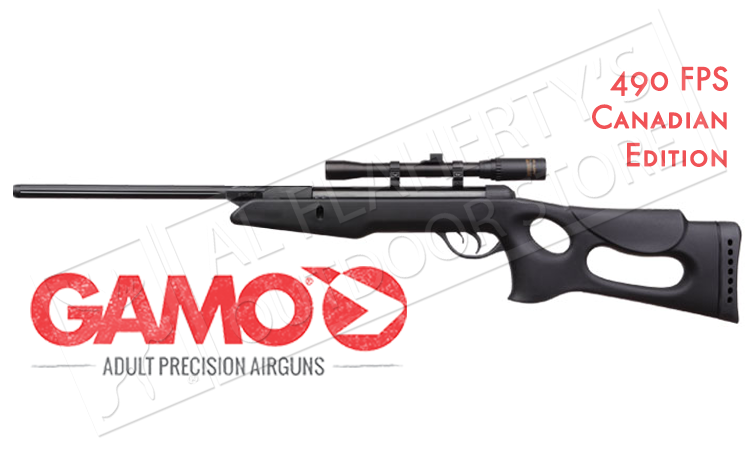 Gamo Recon Air Rifle with 4x20mm Scope, .177 Caliber Pellet 490fps #6110025