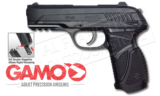 Gamo PT-85 Blowback Air Pistol, .177 Pellet #611138254