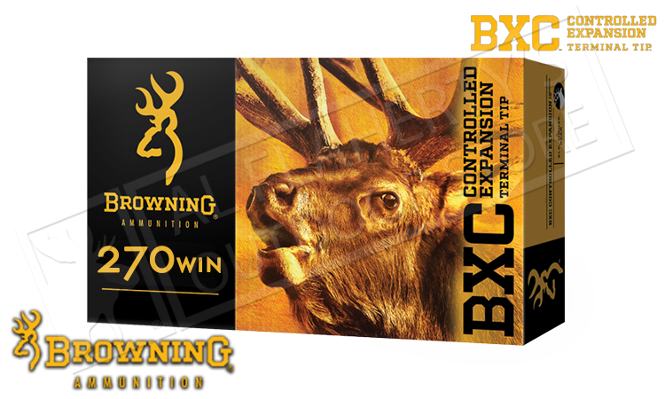 Browning 270 WIN BXC, 145 Grain Box of 20 #B192202701