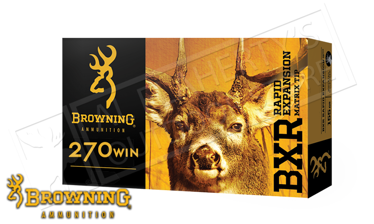 Browning 270 WIN BXR, 134 Grain Box of 20 #B192102701
