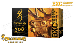 Browning 308 WIN BXC, 168 Grain Box of 20 #B192203081