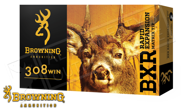 Browning 308 WIN BXR, 155 Grain Box of 20 #B192103081