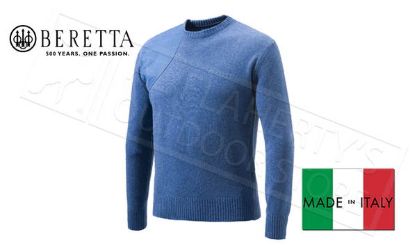 Beretta Round-Neck Sweater, Blue Sizes M-2XL #PU441T11940538