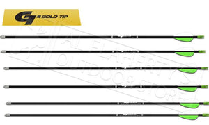 "Gold Tip Arrow Hunter XT 400 with 2"" Raptor Vanes 1/2 DZ #HXT400A26"