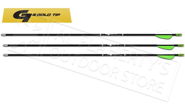 "Gold Tip Fiberglass Arrow Black 29"" with 2.5 Vanes 3 Pack #FIBA253"