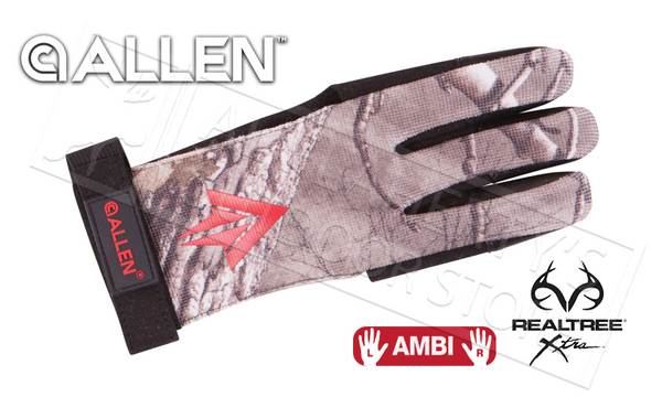 Allen Ambi Traditional Archery Glove in Realtree Xtra, S-M #6053
