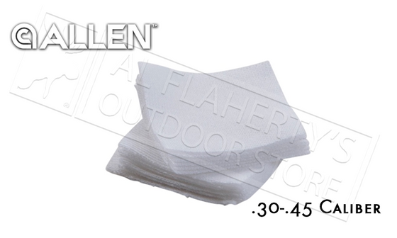 Allen Cotton Patches for Gun Cleaning, .30-.45 Caliber 40-Pieces #70657
