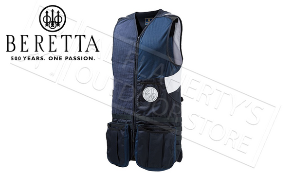 Beretta MOLLE Shooting Vest in Navy Blue, L-XL #GT022T11300530