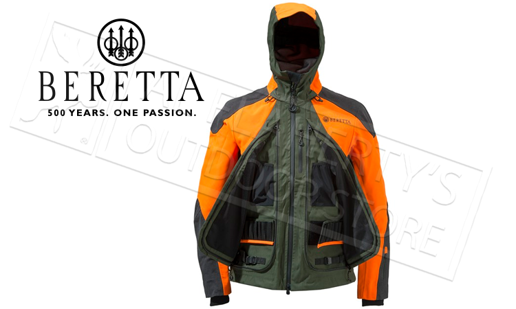 Beretta Thornproof Jacket, Green & Orange L-XL #GU431T0649077W