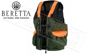 Beretta Game Bag Vest in Green and Orange, L-XL #GU431T0649077W