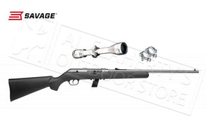 Savage #31007 Semi Auto 64 FSSXP Stainless 22 With 3-9x40 Scope Package