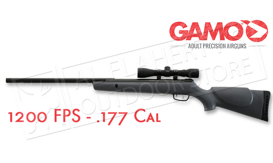 Gamo Hunter 1200 Air Rifle Combo with 4x32mm Scope, .177 Cal 1200FPS #61100066654