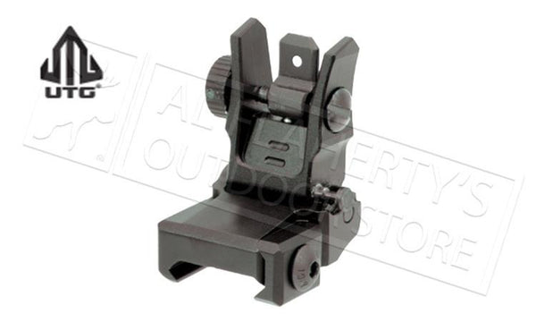 UTG #MNT955 Low Profile Flip-up Rear Sight with Dual Aiming Aperture