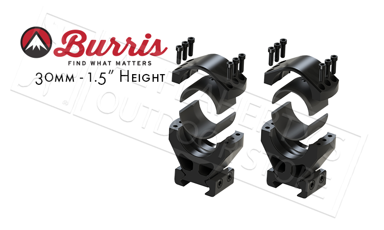 "Burris XTR Signature Rings, 30mm 1.5"" Height Customizable Cant #420223"
