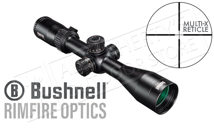 Bushnell Rimfire Scope 3-9x40mm with Side Parallax and Multi-X Reticle #633941