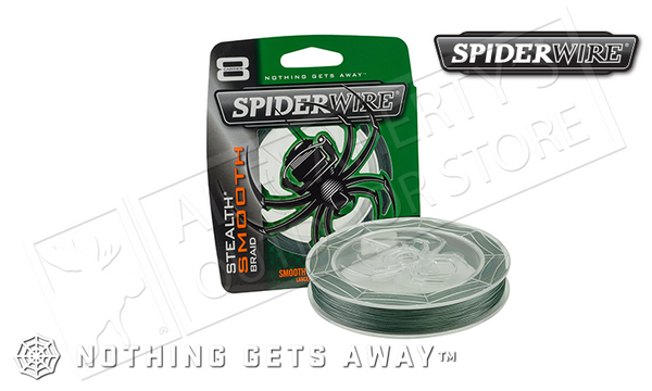 Spiderwire Stealth Smooth Braid Fishing Line, 200YD Spools 8-30 lbs. #SCSMxxG-200