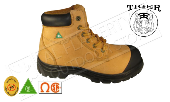 Tiger Safety Light & Comfort Work Shoes in Tan #3055-W