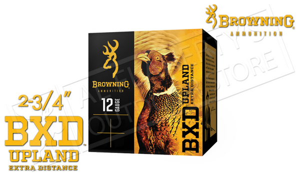 "12 Gauge - Browning BXD Extra Distance Upland Shells, 2.75"" 1-3/8 oz. Box of 25 #B19351122"