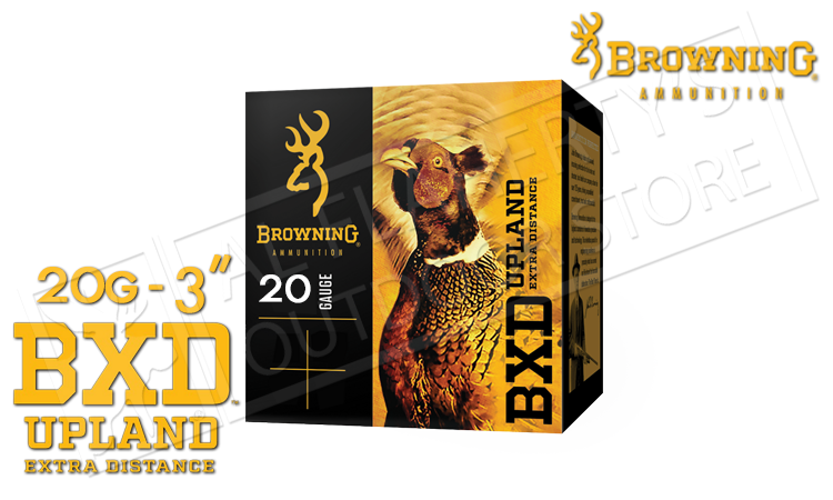 "20 Gauge - Browning BXD Extra Distance Upland Shells, 3"" 1-1/4 oz. Box of 25 #B19351203"