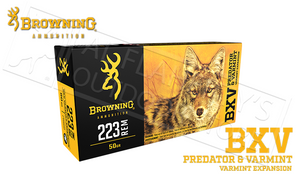 Browning 223 Rem BXV, 50 Grain Box of 20 #B192302231