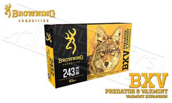 Browning 243 WIN BXV, 65 Grain Box of 20 #B192302431