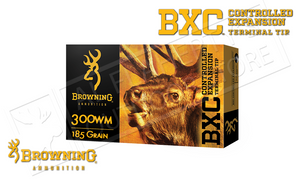 Browning 300WM BXC, 185 Grain Box of 20 #B192203001