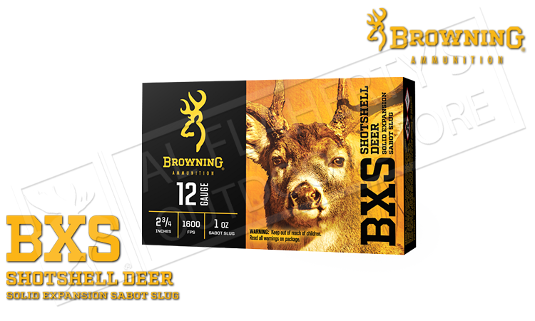 "12 Gauge - Browning BXS Sabot Slugs, 2.75"" 1 oz. Box of 5 #B193111221"