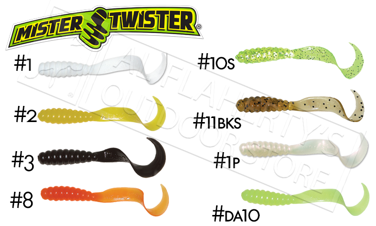 "Mister Twister Curly Tail Meeny, 3"" Packs of 25 #MT25"