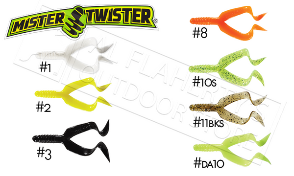 Mister Twister Double Tail, Packs of 10 #DT10