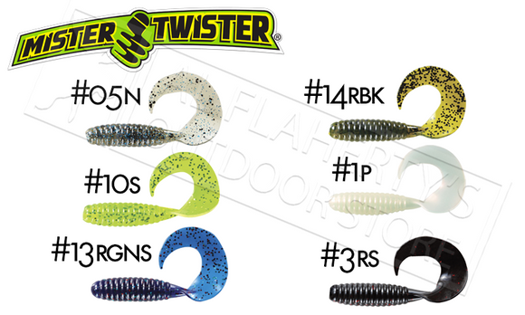 Mister Twister FAT Curly Tail, Packs of 6 #5CT6