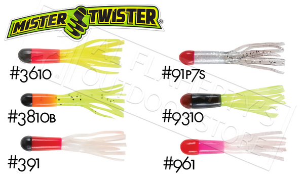 "Mister Twister Tri-Color Mini Tubes, 1-1/2"" Packs of 12 #TCMT12"