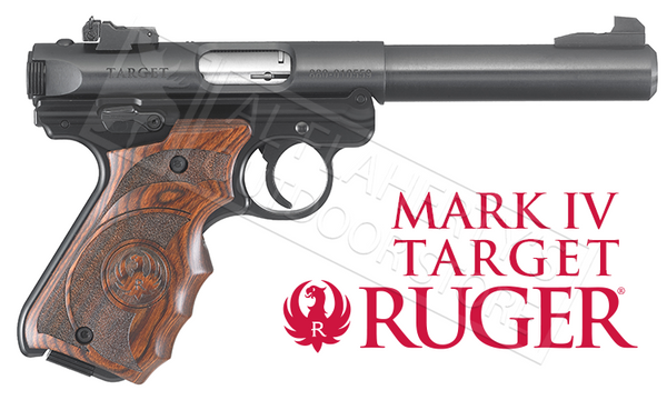 Ruger Mark IV Target with Wood Laminate Grips 22LR #40159