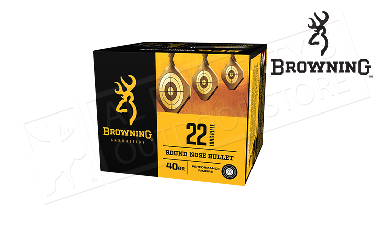 Browning 22LR BPR Target Ammunition, 40 Grain, High Velocity Box of 400 #B194122400