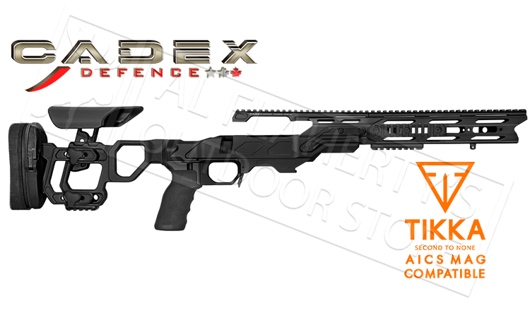 Cadex Field Tactical Chassis for Tikka T3 Short Action with AICS Magazines, 20 MOA Rail #STKFT-TIK-RH-SA