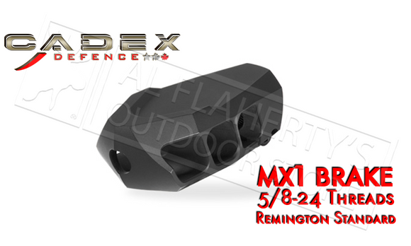 "Cadex MX1 Muzzle Brake for Calibers up to 338, 5/8-24"" Threading #3850-028"
