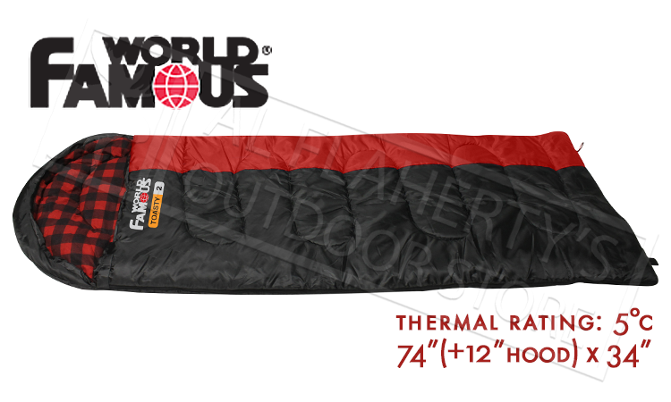 WFS Toasty 2 Rectangular Sleeping Bag with Hood, Rated to 5°C #5801