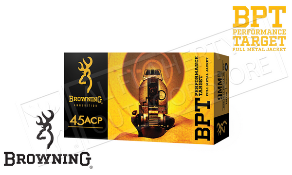 Browning 45ACP BPT Target Ammunition, 185 Grain FMJ Box of 50 #B191800452