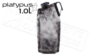 Platypus Duolock Softbottle, Grey Prism Pattern 1.0L #09900