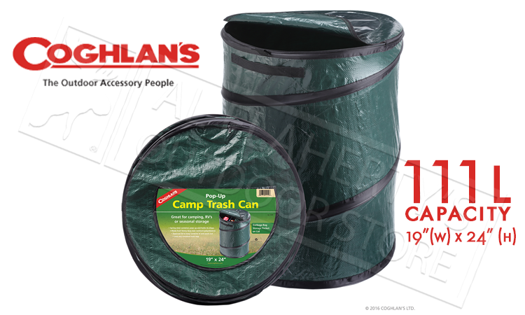 "Coghlan's Pop-Up Camp Trash Can, 19"" x 24"" #1219"