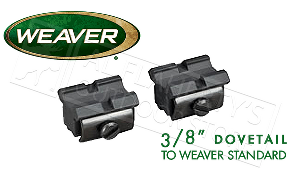 "Weaver Optics T-22 Base Pair Converter, 3/8"" Dovetail to Weaver #48459"