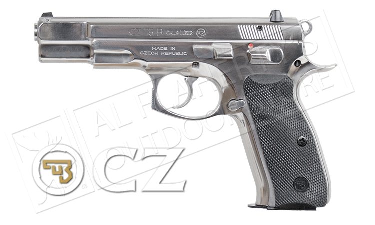 CZ 75B High Polish Stainless 9mm Pistol #01108