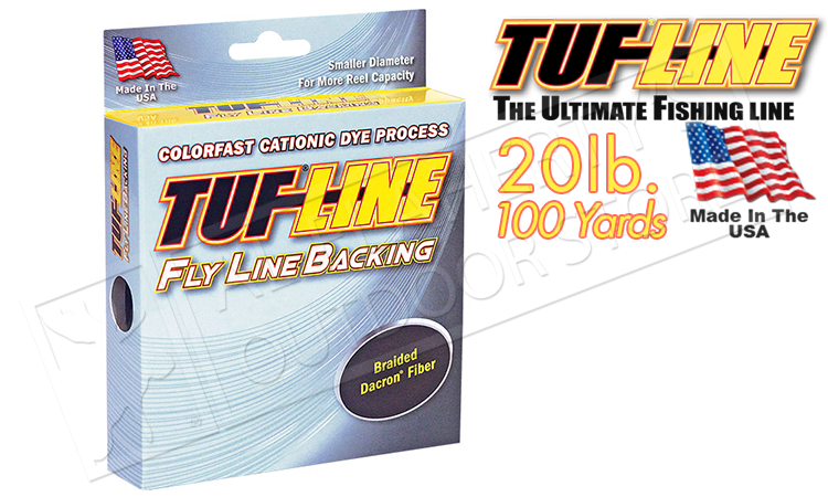 TufLine Flyline Backing, 20lb Chartreuse, 100 Yards #16750017
