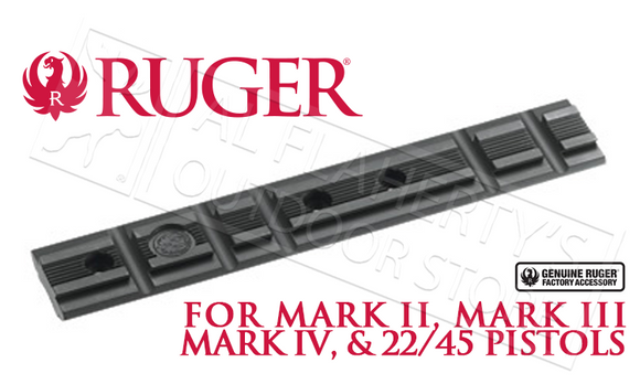 Ruger 22 Target Pistol Scope Base Adapter - Weaver Style, Dovetail Compatible #90228