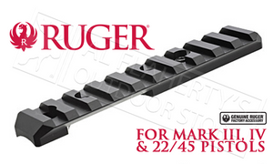 Ruger 22 Target Pistol Scope Base Adapter - Picatinny Style #90623