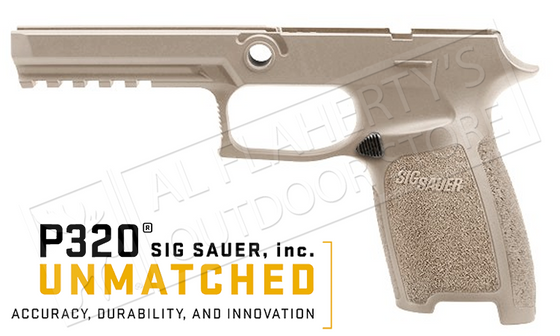 SIG Sauer P320 Full Grip Module for 9mm 40SW .357SIG, FDE Small #GRIP-MOD-F-FDE