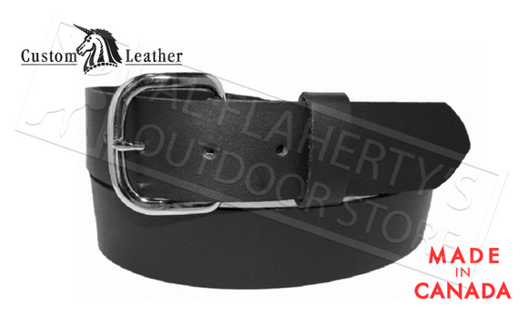"Custom Leather 38mm Heavyweight Cowhide Leather Work Belts, Black 32"" to 42"" #699-04"