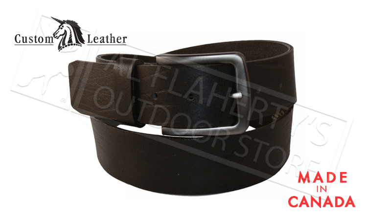 "Custom Leather 40mm Heavyweight Buffalo Leather Belts, Black 32"" to 42"" #10161-04"